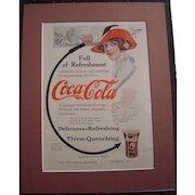 c1915-1920 Matted Coca Cola / Grape Nuts Magazine Advertisement #10