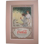 c1920 Matted Coca Cola Magazine Advertisement #12
