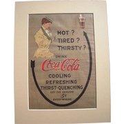 1908 Matted Coca Cola Magazine Advertisement #13