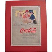 c1915 Matted Coca Cola Magazine Advertisement #14