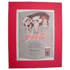 c1920s Matted Coca Cola Magazine Advertisement #18