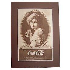1919 Matted Coca Cola Magazine Ad w/ Marion Davies #19