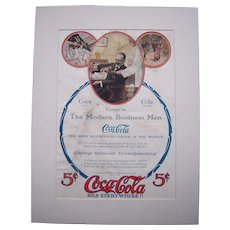 1907 Matted Coca Cola Magazine Advertisement #20