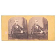 1860s Stereoview British Prime Minister William Gladstone