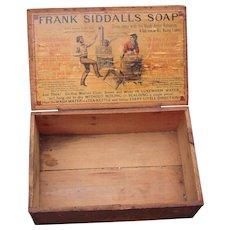 Victorian Store Advertising Display Box Frank Siddalls Soap