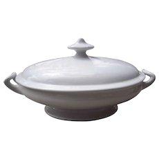 """c1870s Large Covered Ironstone Bowl """"Edward Clarke"""""""