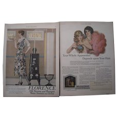 Pair 1920s Ladies Home Journal Signed Ads (Coles Phillips & Earl Christy)