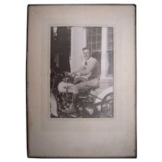 c1920 Photo of Man on Motorcycle