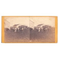 1860 Stereoview of Cuba #67 Sugar Ready for Market