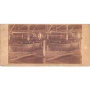 1860 Stereoview of Cuba #120 Interior of Sugar Mill