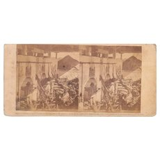 1860 Stereoview of Cuba #72 The Fire Hole