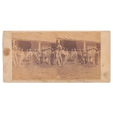 1860 Stereoview of Cuba #68 The Nooning