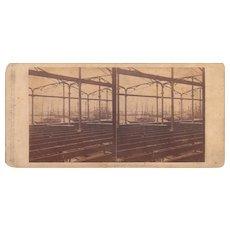 1860 Stereoview of Cuba #81 Sugar Warehouse