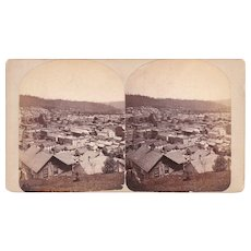 Stereoview of Bradford, PA w/Oil Wells