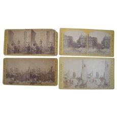 Lot of 4 1872 Boston Fire Stereoviews