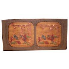 French Hand Colored Tissue Stereoview Diableries #5