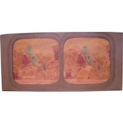 French Hand Colored Tissue Stereoview Diableries #6
