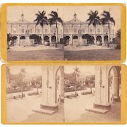 Pair 1860s Stereoviews of Cuba E. Anthony #3 and #4s