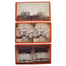Lot of 3 Stereoviews of Unidentified College