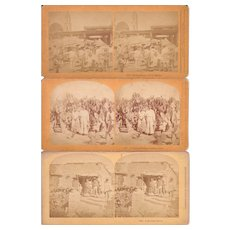Lot of 3 1873 Stereoviews of Mexico