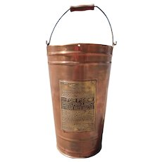 Vintage Lofstrand Co. Copper Fire Extinguisher