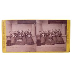 1860s Stereoview of Fairhaven, MA Choir