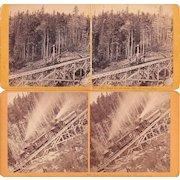 Lot 6 1870s Mt. Washington NH Cog Railway Stereoviews #1