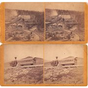Lot 6 1870s/1880s Mt. Washington NH Cog Railway Stereoviews #2