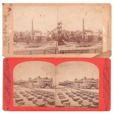 Pair Coney Island Stereoviews c1880s/1890s