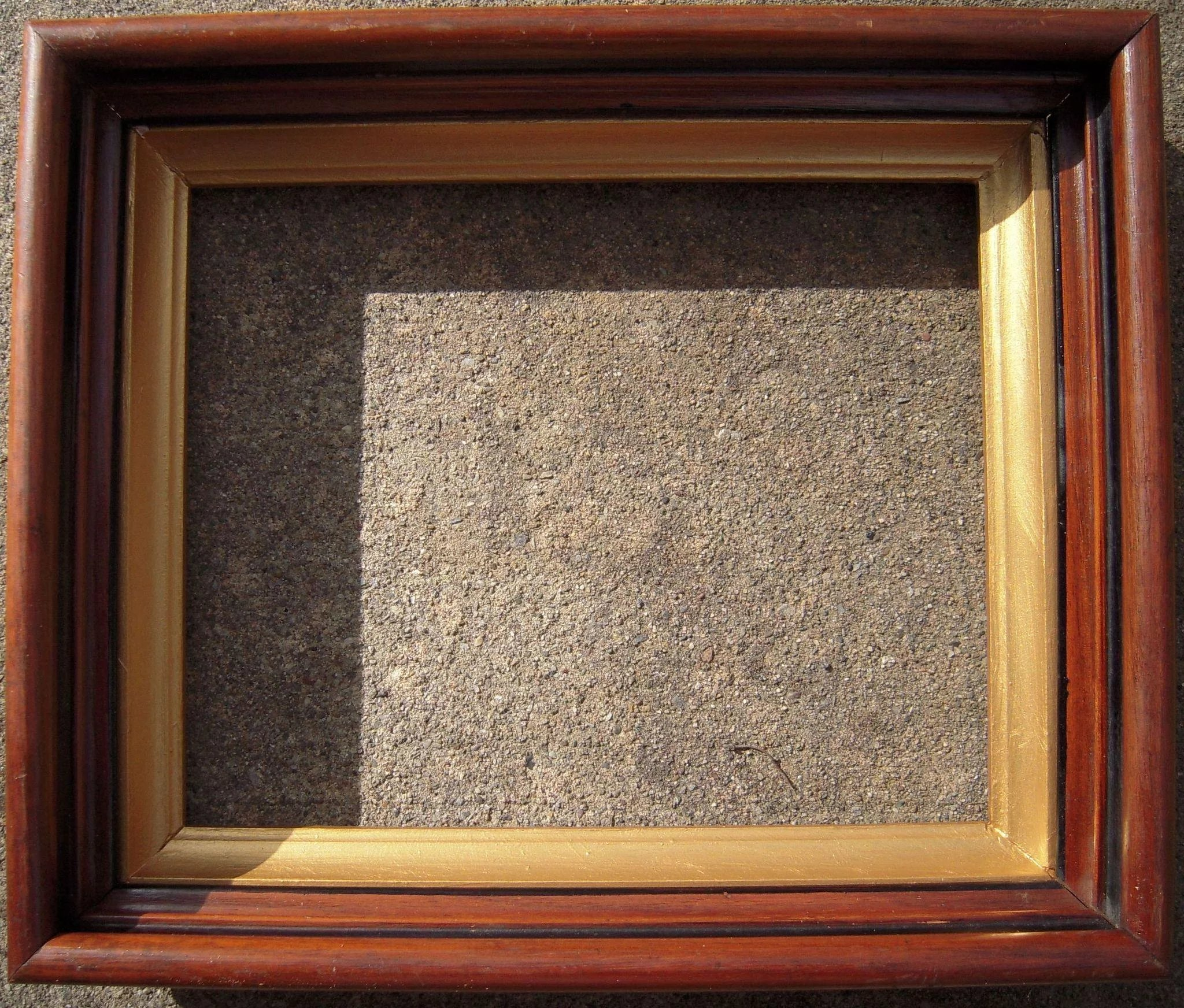 Deep Victorian Walnut Picture Frame W Gold Liner 8 Quot X 10