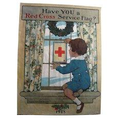 1918 Jessie Wilcox Smith Red Cross Poster