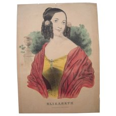 c1840s/1850s Currier and Ives Elizabeth