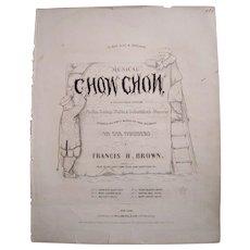 1853 Sheet Music Chow Chow