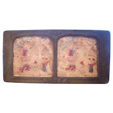 French Hand Colored Tissue Stereoview Diableries #21