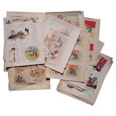 Lot  24 Color Judge Satirical Cartoons from 1901 and 1902