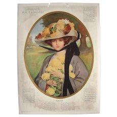 Large Color 1913 Calendar Page