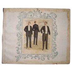 Lot of 3 Victorian Era Men's Fashion Plates