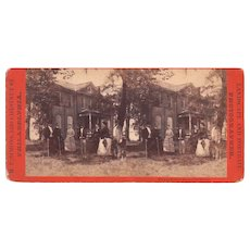 Stereoview Close Up View Croquet Players Philadelphia, PA