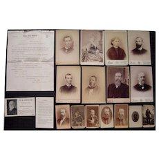 Lot of Samuel Kirkwood & Descendants Political Items (Iowa Gov, Senator and Sec of Interior for James Garfield)