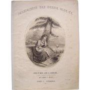 1849 Sheet Music Jennie With Her Bonnie Blue E'E