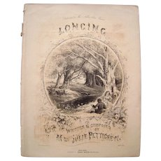 1855 Sheet Music Longing