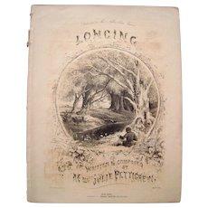 1855 Sheet Music Longing