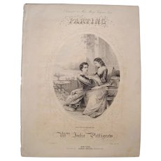 1855 Sheet Music Parting