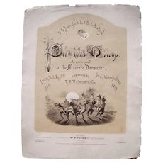 1864 Sheet Music Pukwudjies Galop (Civil War Related)