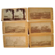 Lot of 6 World's Fair Stereoviews (Columbian or St. Louis Expo)