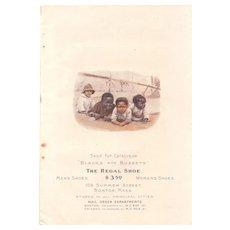 1900 Color Regal Shoes Advertisement  w/Young Black Children