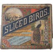 Sliced Birds Victorian Era Puzzle Game w/Box #2