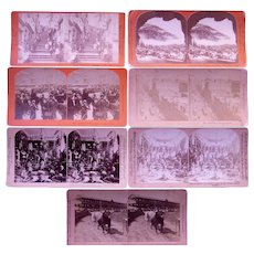 Lot of 7 Stereoviews of Canada