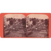 Stereoview of 1885 Fireman's Parade