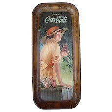 "Large Advertising 1916 Coca Cola Tray ""Elaine"""